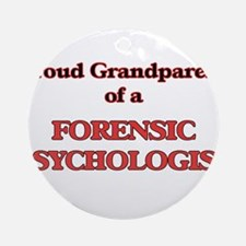 Proud Grandparent of a Forensic Psy Round Ornament