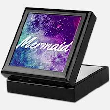 'Mermaid' on Galaxy Print Keepsake Box