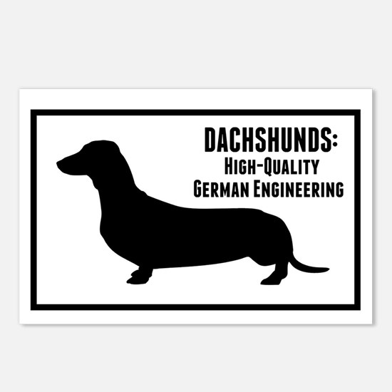 Dachshunds Postcards (Package of 8)