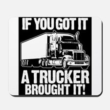 If You Bought It A Trucker Brought It. Mousepad