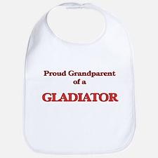 Proud Grandparent of a Gladiator Bib
