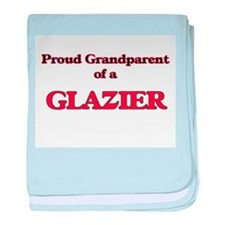 Proud Grandparent of a Glazier baby blanket