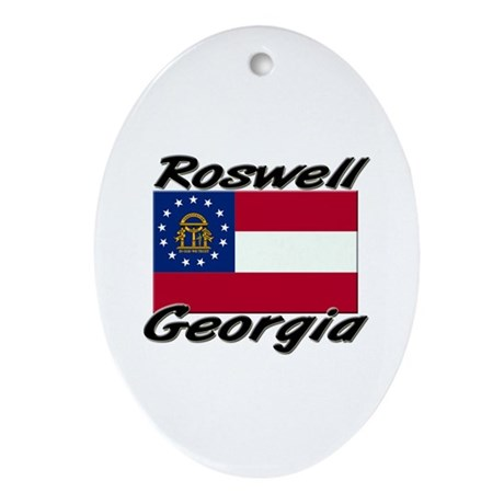 Roswell Georgia Oval Ornament