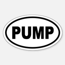 Bodybuilding Pump Iron Oval Decal