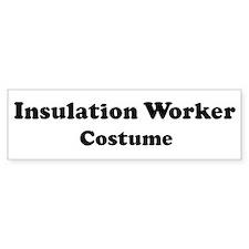 Insulation Worker costume Bumper Bumper Sticker