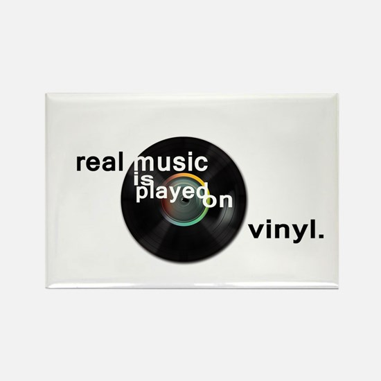 Real music is played om vinyl Magnets