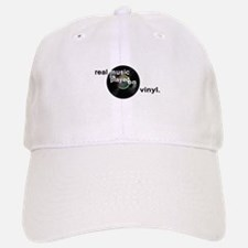 Real music is played om vinyl Baseball Baseball Cap