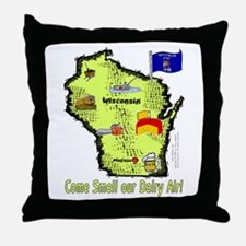 WI-Dairy Air! Throw Pillow