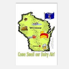 WI-Dairy Air! Postcards (Package of 8)