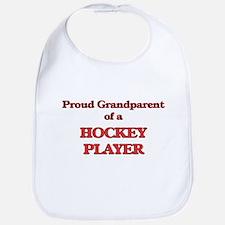 Proud Grandparent of a Hockey Player Bib