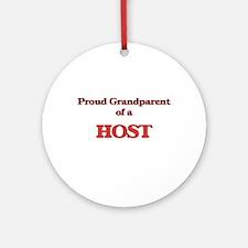 Proud Grandparent of a Host Round Ornament