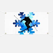 Winter Landscape Freestyle skier in Snowfla Banner