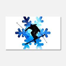 Winter Landscape Freestyle skie Car Magnet 20 x 12