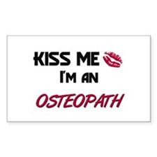 Kiss Me I'm a OSTEOPATH Rectangle Decal