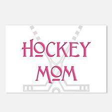 HockeyMomSticksPink.png Postcards (Package of 8)