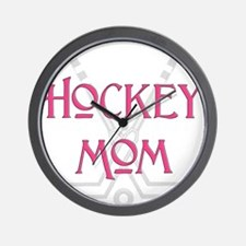 HockeyMomSticksPink.png Wall Clock
