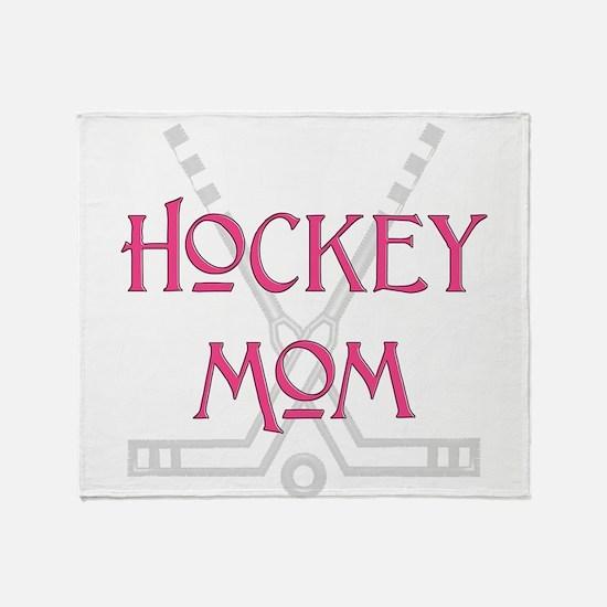 HockeyMomSticksPink.png Throw Blanket