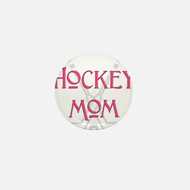 HockeyMomSticksPink.png Mini Button