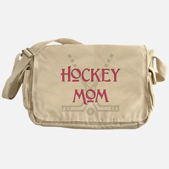 HockeyMomSticksPink.png Messenger Bag