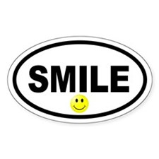 Smile Smiley Face Oval Oval Decal