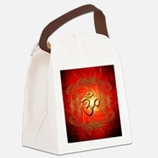Om sign in gold,red Canvas Lunch Bag