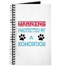 Warning Protected by a Komondor Journal