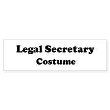 Legal Secretary costume Bumper Bumper Sticker