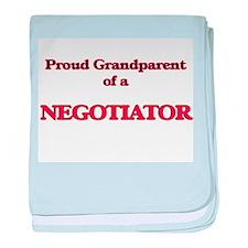 Proud Grandparent of a Negotiator baby blanket
