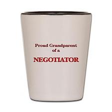Proud Grandparent of a Negotiator Shot Glass