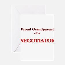 Proud Grandparent of a Negotiator Greeting Cards