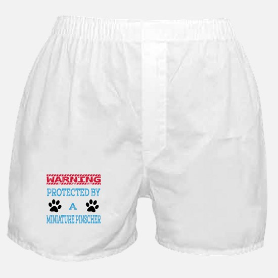 Warning Protected by a Miniature Pins Boxer Shorts