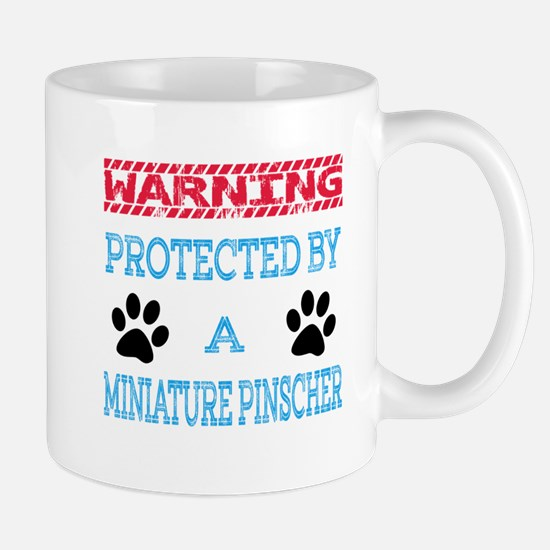Warning Protected by a Miniature Pinsch Mug