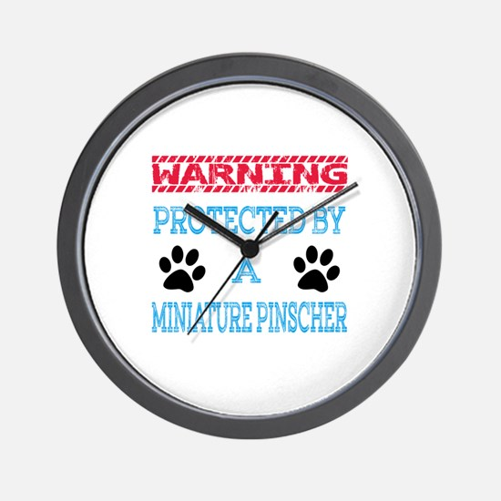 Warning Protected by a Miniature Pinsch Wall Clock