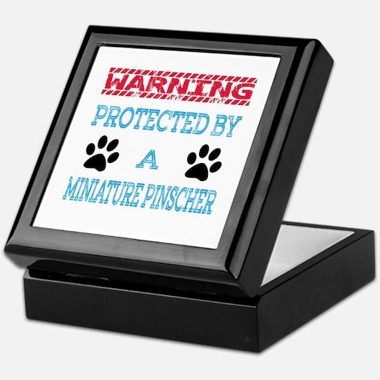 Warning Protected by a Miniature Pins Keepsake Box