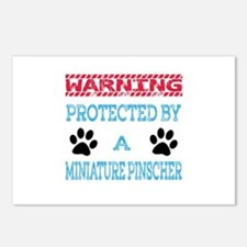 Warning Protected by a Mi Postcards (Package of 8)