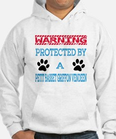 Warning Protected by a Petit Bas Hoodie