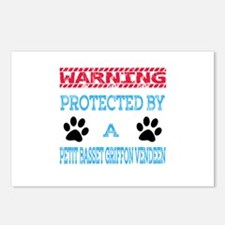 Warning Protected by a Pe Postcards (Package of 8)