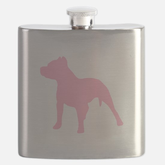 Pitbull Pink 1C Flask