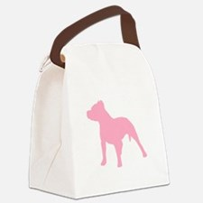 Pitbull Pink 1C Canvas Lunch Bag
