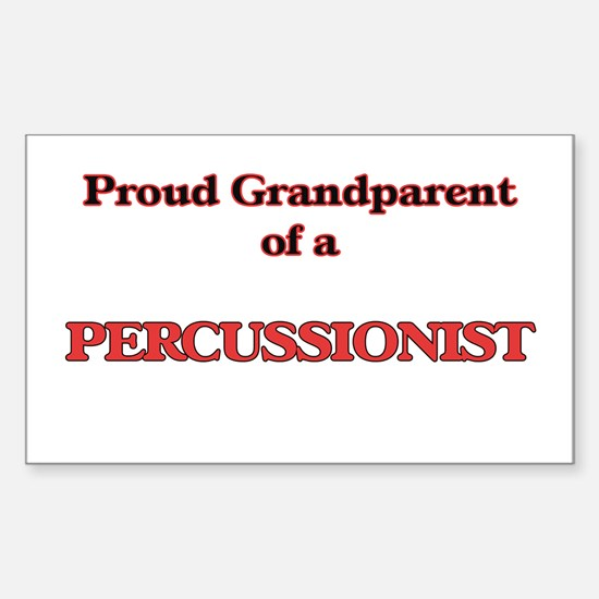 Proud Grandparent of a Percussionist Decal