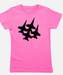 Unique Blue angels Girl's Tee
