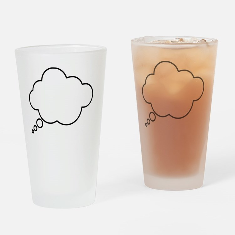 Cute Thought bubble Drinking Glass