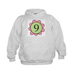 Nine pink/green flower Hoodie