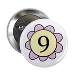 Nine Purple/Yellow Flower Button