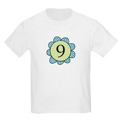 Nine Blue/Green flower T-Shirt