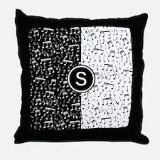 Monogram music designer Throw Pillow