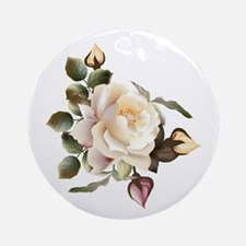 Beautiful Victorian Roses Round Ornament