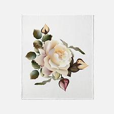 Beautiful Victorian Roses Throw Blanket