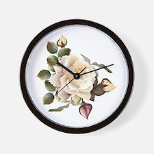 Beautiful Victorian Roses Wall Clock