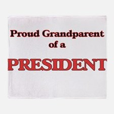 Proud Grandparent of a President Throw Blanket